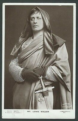 Lewis Waller Stage Actor 1905 Beagles Real Photo Postcard