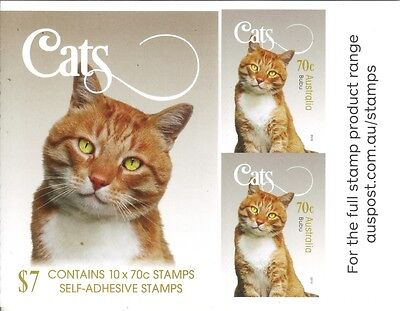 ".AUSTRALIA - 2015 CATs complete booklet of 10 MNH - ''Bubu"" - Pet Animals"