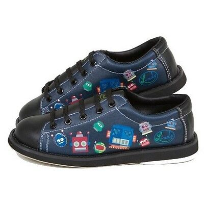 Youth Boys Linds Bot Bowling Ball Shoes Color Black Size  4