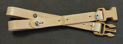 clip dorsal leather natural, belt holding dos, clip plastic. New