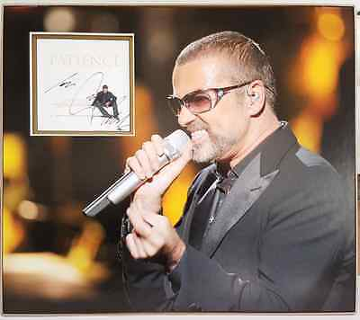 GEORGE MICHAEL personally signed CD cover - Picture mounted and matted