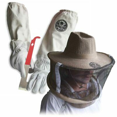 Cotton & Sheepskin Beekeeping Large Gloves w/ Vail &J-Hook Tool GL-GLV-JHK-VL-LG