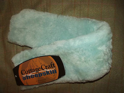 "New 28"" Small Blue Cottage Craft Sheepskin 100 % Australian Wool Girth Sleeve"