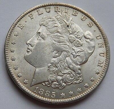 USA Morgan Dollar 1885 O  .900 Silver