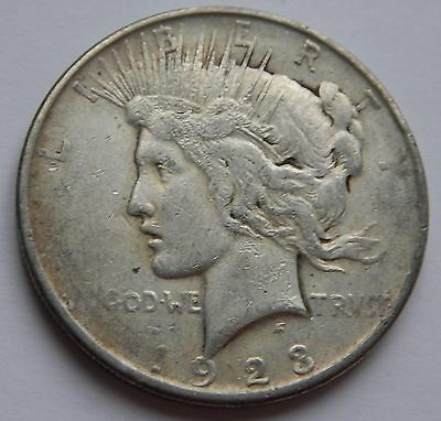 USA Peace Dollar 1923 D  .900 Silver