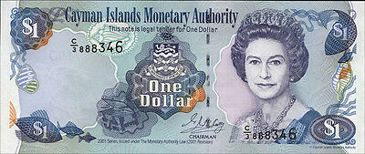 Cayman-Inseln / Cayman-Islands 1 Dollar 2001 Pick 26b (1)