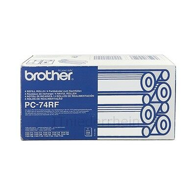 Brother PC-74RF, 4er-Pack Thermotransferrollen FAX-T72, FAX-T82, FAX-T92 uvm (np