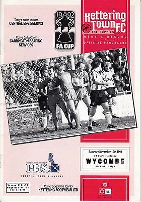 KETTERING TOWN  v  WYCOMBE WANDERERS  ( FAC )  1991/2.