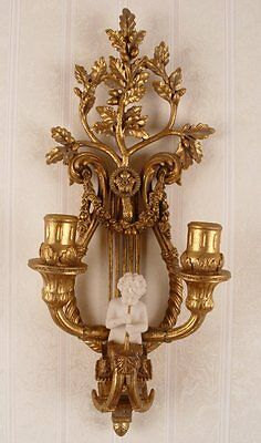 BOUGEOIR ANTIQUE STYLE MURAL BAROQUE OR Chandelier