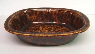 "Large ANTIQUE BENNINGTON Rockingham - Spongeware Pottery Bowl 12"" Signed VPNTS"