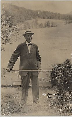 1925 President Coolidge's father John at the family farm in Plymouth VT RPPC