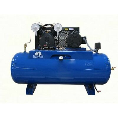 5 HP 2 Cylinder 3 Phase 80 Gallon Horizontal Air Compressor