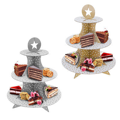 Cake Stand Cupcake Party Decorations Table Wedding Gold Silver Muffin Decorating