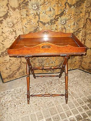Fabulous Edwardian Antique Mahogany Butlers' Tray  or Table with Stand