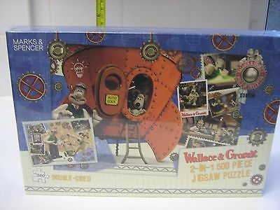 wallace & gromit 2-in-1 500 piece jigsaw puzzle