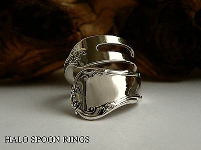 Ornate And Chunky Ladies Sterling Silver Pickle Fork Ring  ** Valentines Gift **