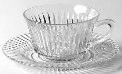 Anchor Hocking QUEEN MARY CLEAR Cup & Saucer 1164112