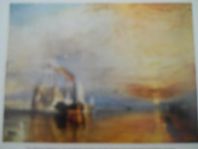 antique colour print The Fighting Temeraire JMW Turner c.1960 approx 20 x 15 cm