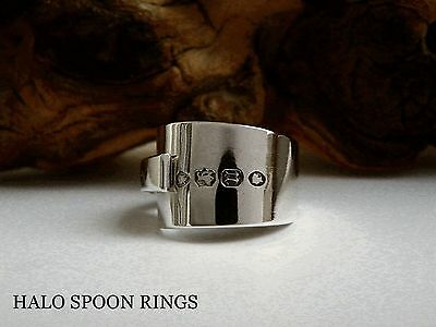 Stunning Victorian Glasgow Solid Silver Spoon Ring 1868  *** Valentines Gift **