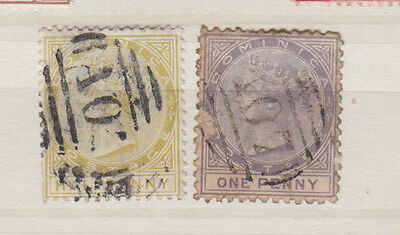 Two very nice old Dominica Victorian issues
