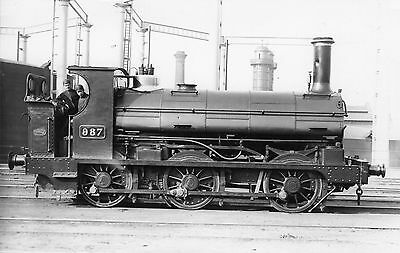 Photo GWR 0-6-0T No 987 at unknown location R/F by Real Photographs