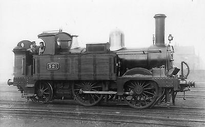Photo GWR 0-4-2T No 521 at unknown location R/F by Real Photographs