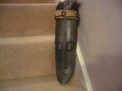 A Carved Wooden Indonesian / Maori Tribal Mask A Superb Mask