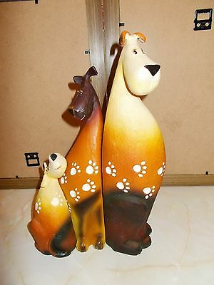 Farmyard Fun Ornaments. Set of 3 Dogs