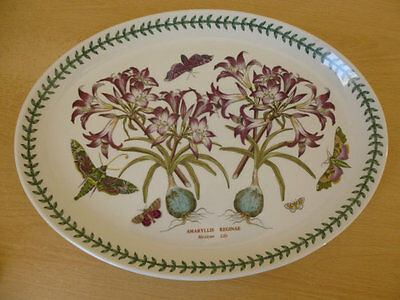 Portmeirion Botanic Garden Large Oval Serving Platter - Mexican Lily 1st Quality