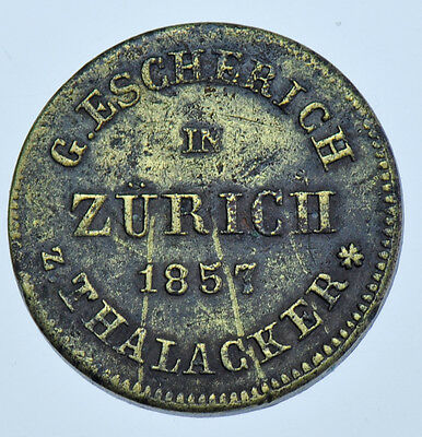 Germany Zürich Beer Token, G. Escherich 1857 Thalacker Vf