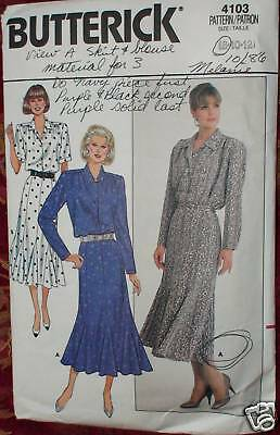 4103 Butterick SEWING Pattern Misses Two Piece Dress 8-10-12