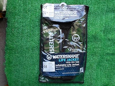 Watersnake Inflatable Manual Adult Life Jacket Camo L150/150N Brand New Unopened