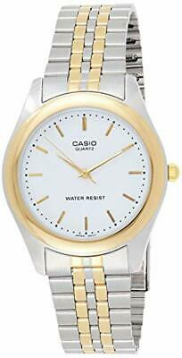 Casio MTP1129G-7A Men's Two Tone Stainless Steel White Dial Analog Watch