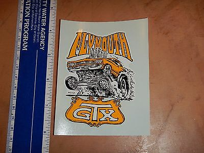 1960's RAT FINK ED ROTH WATER SLIDE PLYMOUTH GTX  NOS