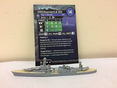 Axis and Allies War at Sea Condition Zebra #18 - USS Houston (CA 30)