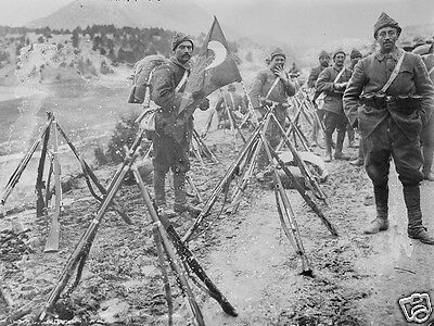 Turkish infantry soldiers taking a break from marching World War I 8x10 Photo