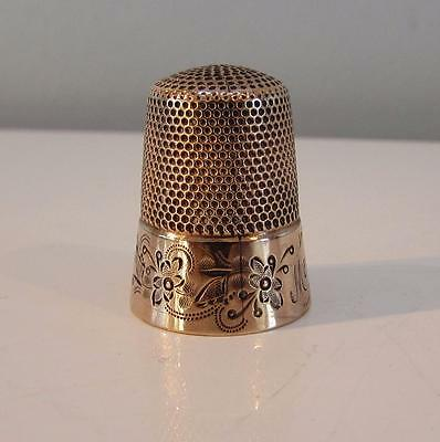 Finest Victorian 19thC  solid 10 Carat Gold Thimble - FinestWork