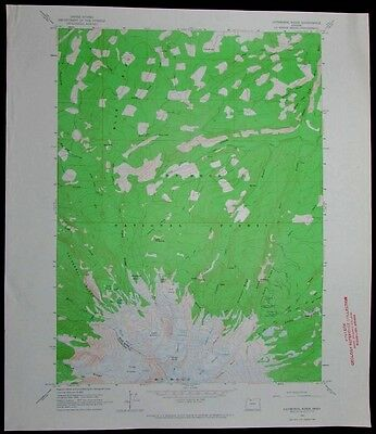 Cathedral Ridge Oregon Mt Hood National Forest vintage 1964 old USGS Topo chart