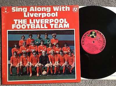 The Liverpool Football Team Sing Along 1972 Uk Vinyl Lp  Rare Trophy Series Ex-