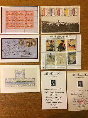 small lot of Cinderellas and Souvenir Sheets