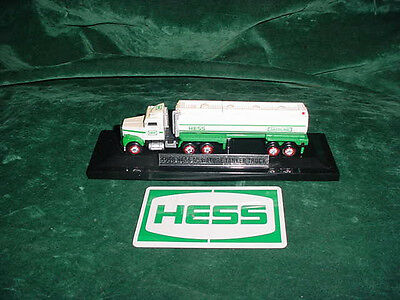 Hess Toy Trucks  First Mini 1998 Tanker  & Display Stand For Train Layout Toys