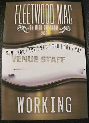 Fleetwood Mac On The Road Again Backstage Pass Satin Pass