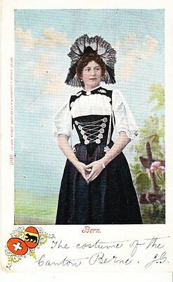 Switzerland - Woman in costume of the Bern Canton - post card 1904