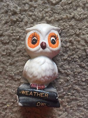 """Nice collectible owl figure statue Weather Owl Cute! 3"""" tall"""