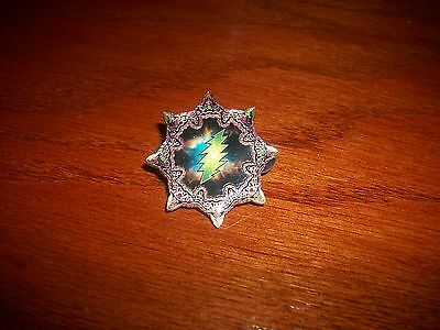Grateful Dead Jerry Garcia Lightning Bolt Pin By Mongo Arts Limited Edition Nice