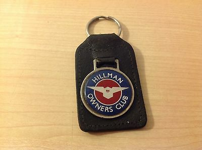 "Vintage ""hillman Owners Club"" Members Keyring. Used But Very Useable."