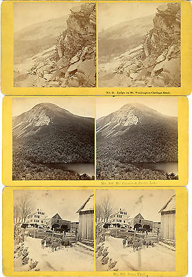 3 White Mountains NH Littleton Area by Kilburn Brothers 1860s/70s b67