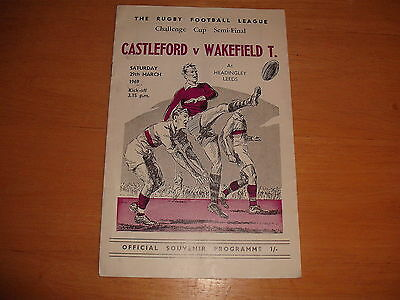 CASTLEFORD WAKEFIELD TRINITY Rugby Challenge  Cup Semi Final Programme 1969