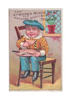 1880's.SAN FRANCISCO Trade Card. Armore's Mince Meat.R.F.Bunker .PORKPACKER
