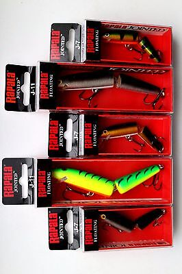 Lot of 5 Genuine RAPALA Jointed Lures Assorted